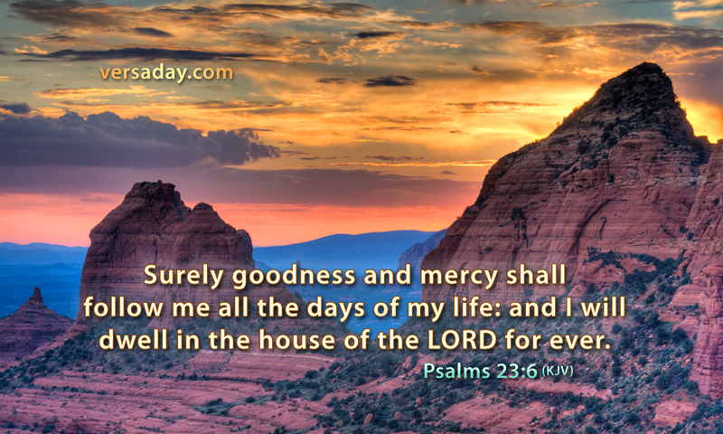 Psalms 23:6 - Verse for April 25